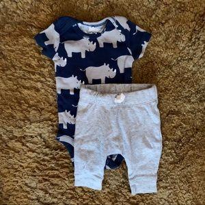 Carters Rhino Bodysuit & Pants